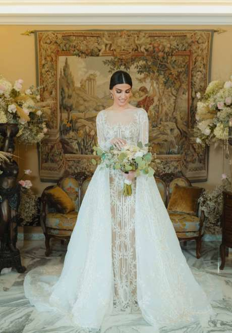 ثيم زفاف ملكي من وحي الطبيعة في لبنان