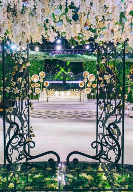A Miraculous Garden Wedding in Qatar