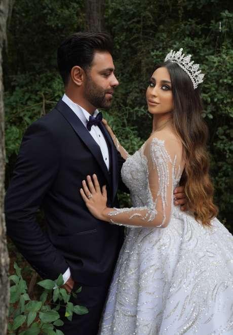 حفل زفاف ليلى وزياد الأنيق في شتورة