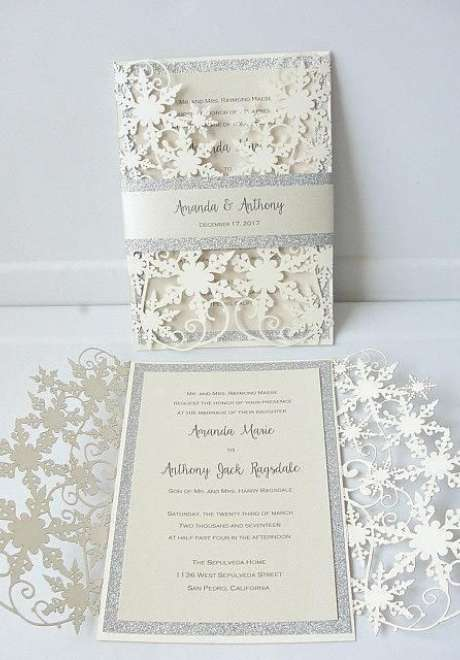 Festive Christmas Wedding Invitations
