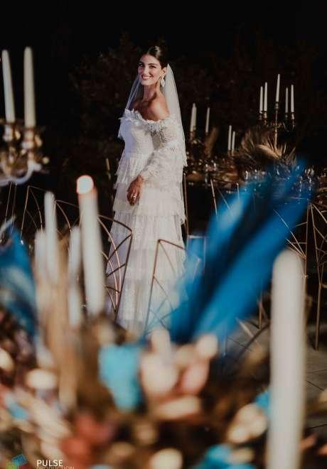 A Modern Blue and Metallics Wedding in Lebanon