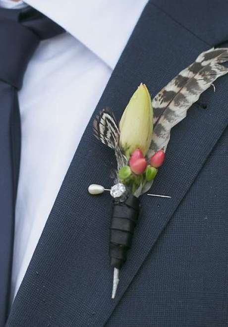 Creative Boutonnieres for Weddings