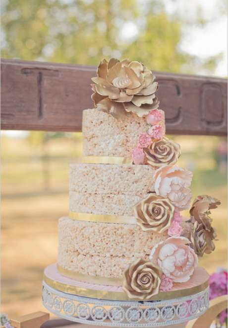 Wedding Cake Alternative: The Wedding Rice Krispie Cake