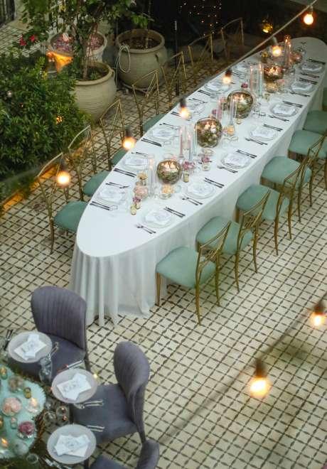 حفل زفاف حالم بألوان الباستيل في عمان