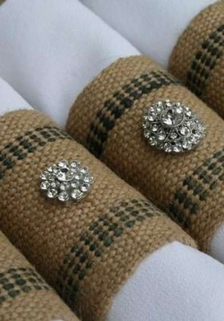 Pretty Napkin Rings to Suit Every Wedding Style