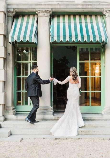 حفل زفاف رومانسي في واشنطن لرجائي وباميلا