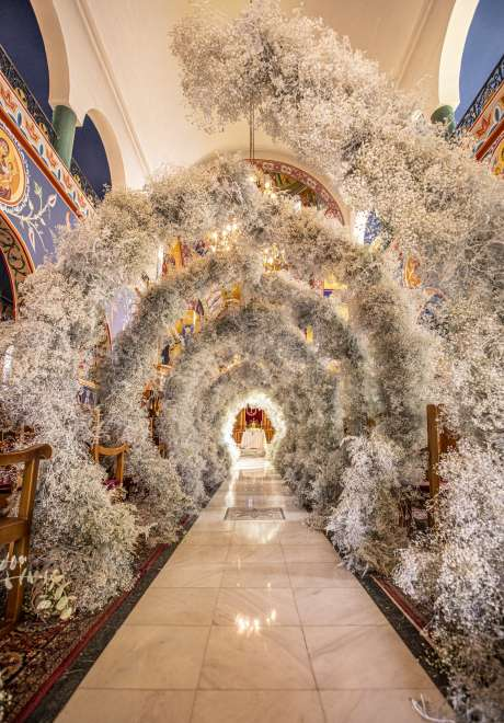 An All Floral Arches Wedding in Amman