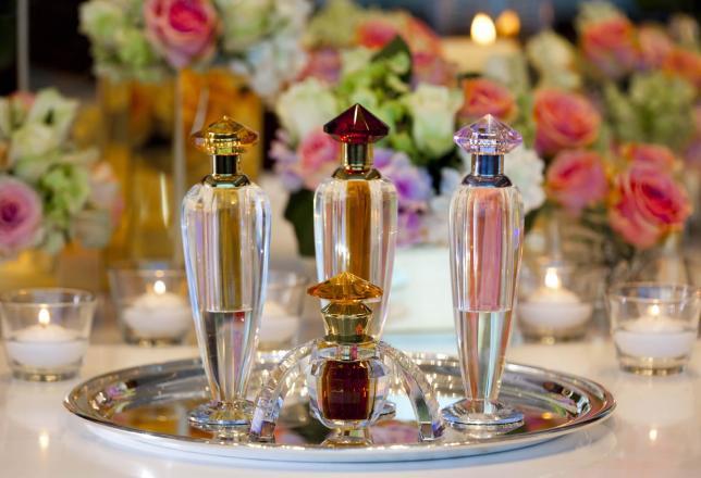 Rosewood Abu Dhabi Perfume Table