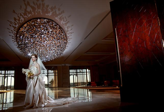 Bride in foyer of JRCC