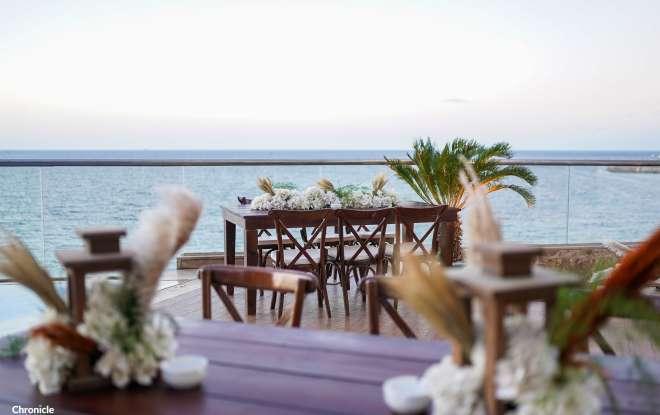 Hilton Alexandria Corniche beach wedding