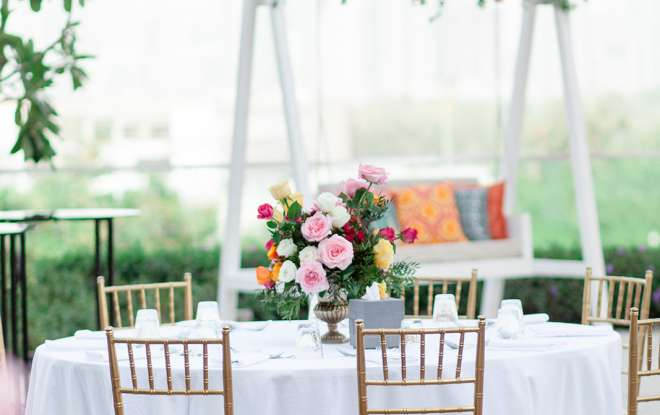 Outdoor wedding at Vida Emirates Hills