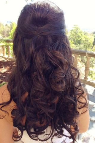 Belle bridal hair 1