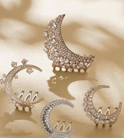 Moon and Star Hair Accessories for The Bride This Eid
