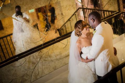 حفل زفاف ساحر باللون الأبيض من تنظيم كاروسيل