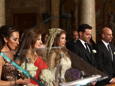 Nicole Saba and Yusuf Al-Khal at The Wedding Ceremony