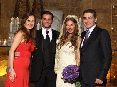 Nicole Saba and Yusuf Al-Khal After Wedding Ceremony