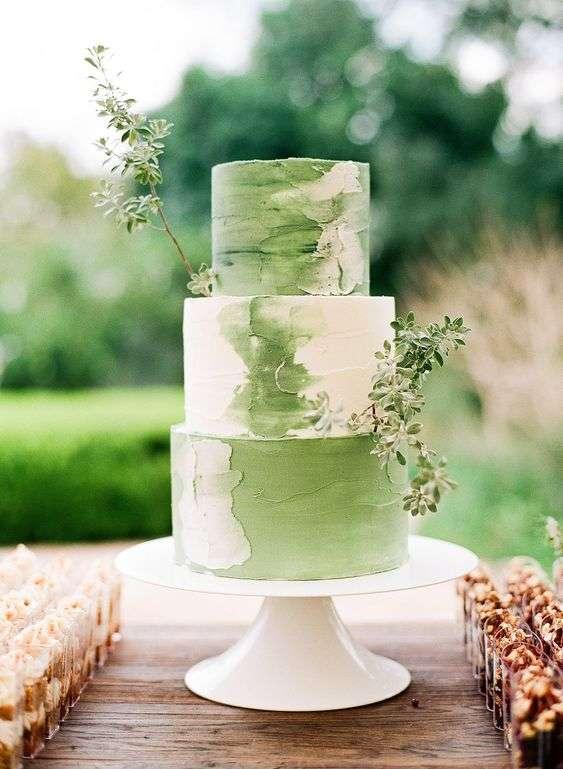 Green Wedding Cakes Arabia Weddings