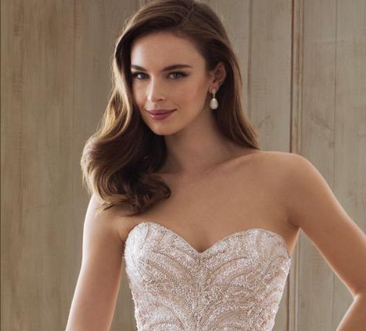 Hair for Strapless Wedding Dress