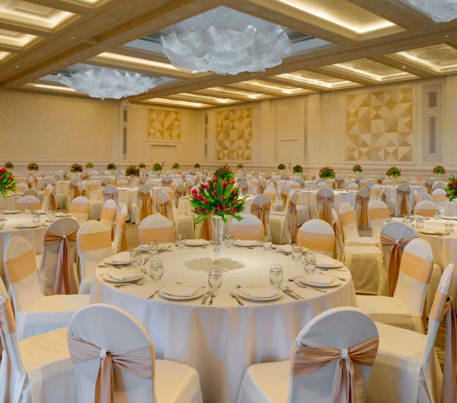 أكبر قاعات الأفراح في فنادق دبي