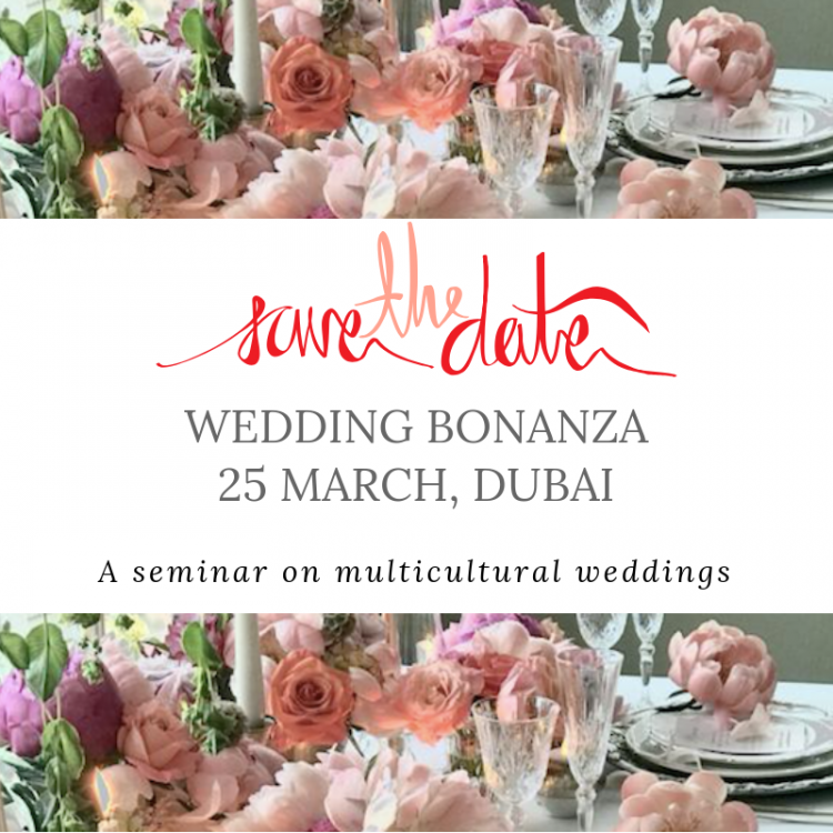Save The Date For a Seminar on Multicultural Weddings in Dubai