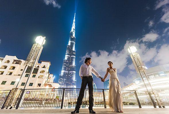 أماكن مثالية لجلسات التصوير قبل حفل الزفاف في دبي