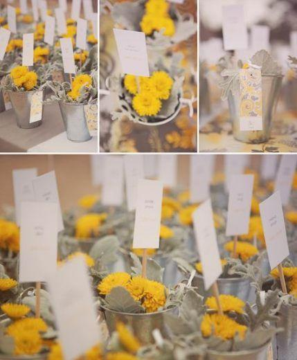 Your Wedding in Colors: Yellow and Grey