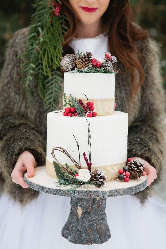 Winter Wedding Cakes Arabia Weddings