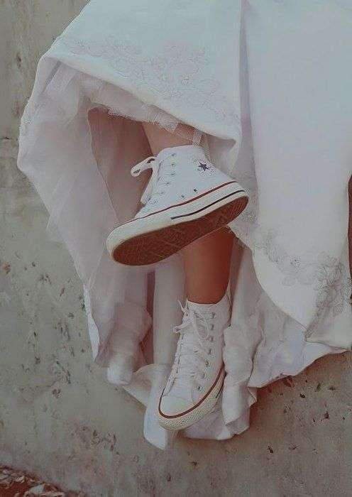Stylish Trainers For The Bride
