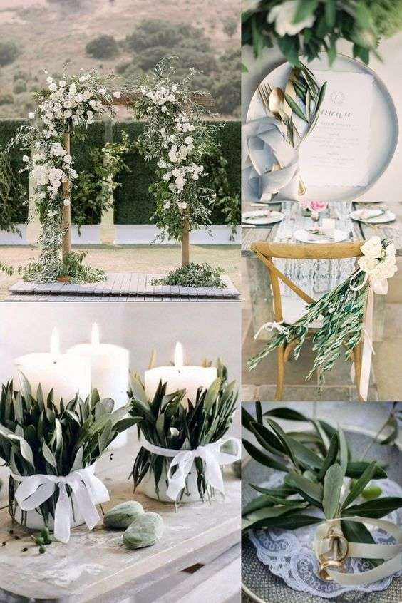 Olive Branches Wedding Theme Ideas