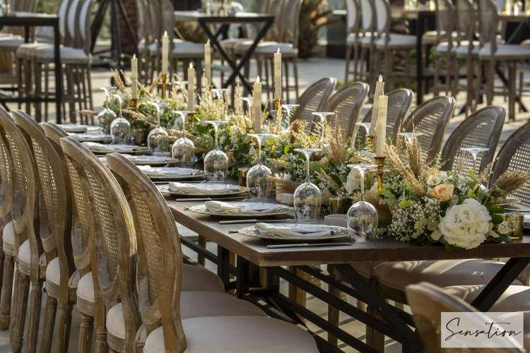 حفل زفاف بوهيمي عتيق في الأردن