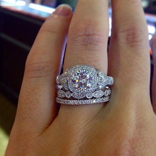 Stacked Diamond Rings