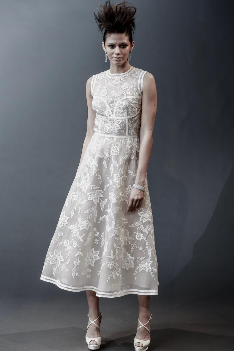 Naeem Khan 2019 Short Wedding Dress