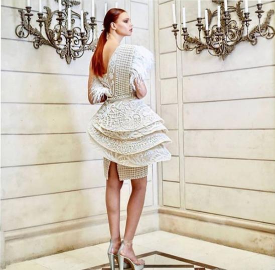 Abed Mahfouz 2019 Short Wedding Dress 2