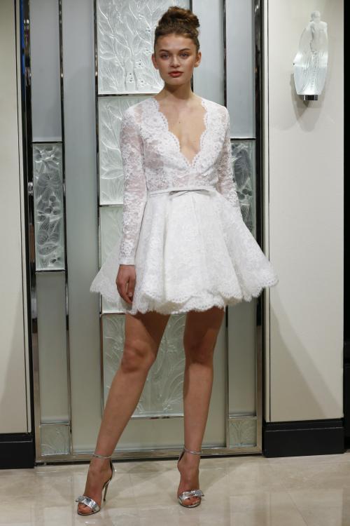 Gracy Accad Short Wedding Dress