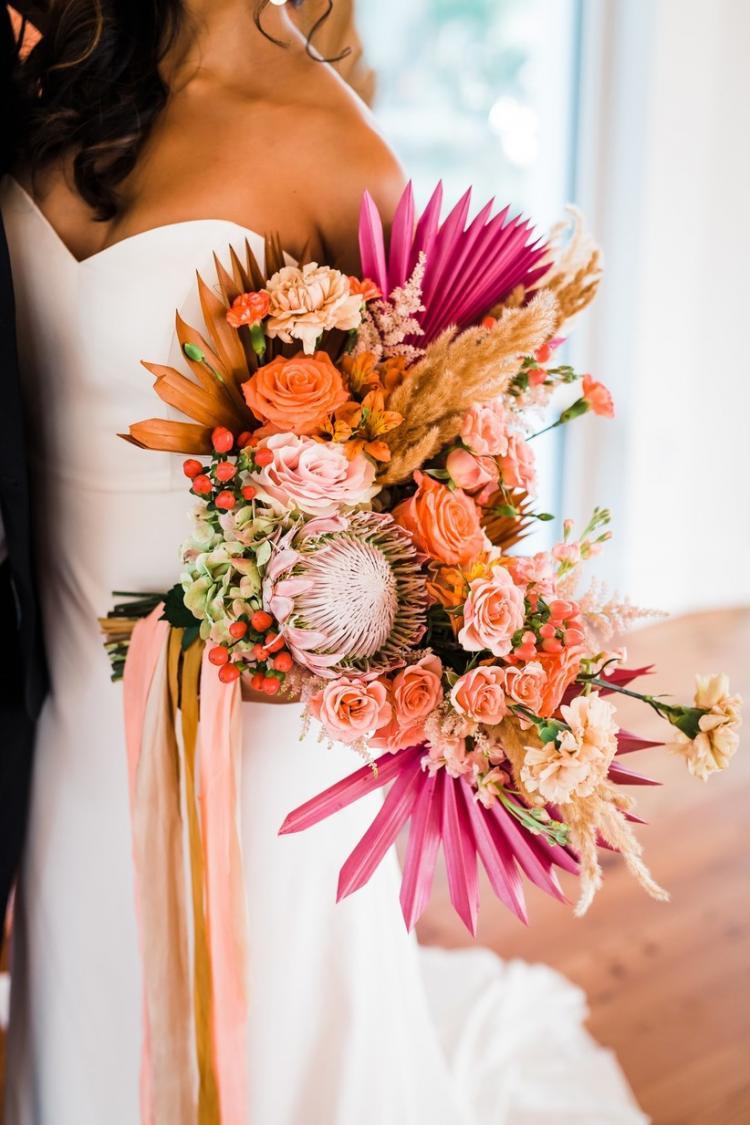 Sun Palm Bridal Bouquet