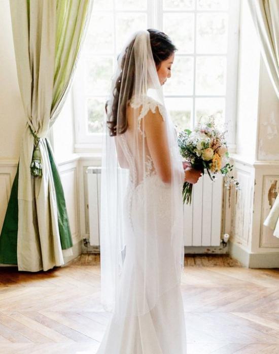 طرحة العروس الطويلة (والتز)
