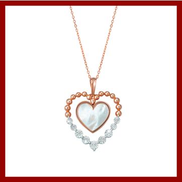 مجوهرات على شكل قلب