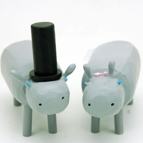 اكسسوارات كيك الزفاف على شكل الحيوانات