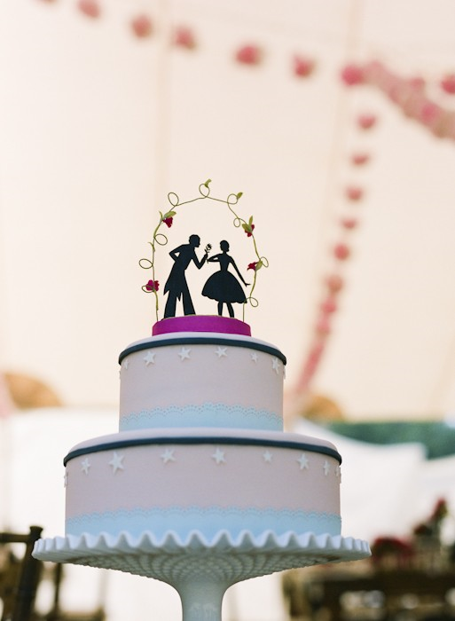 Silhouette Wedding Cake Toppers