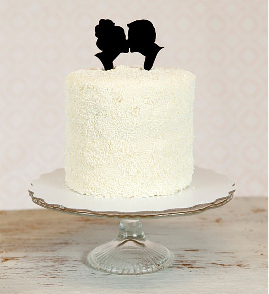 Silhouette Wedding Cake Toppers 1