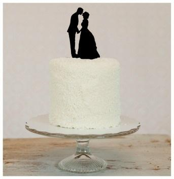Silhouette Wedding Cake Toppers 2