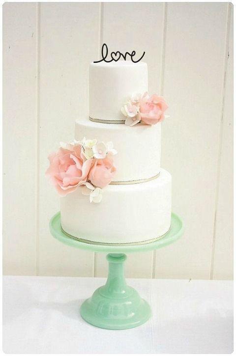 Word Cake Topper