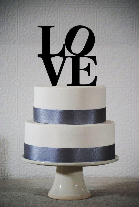 Words Cake Topper