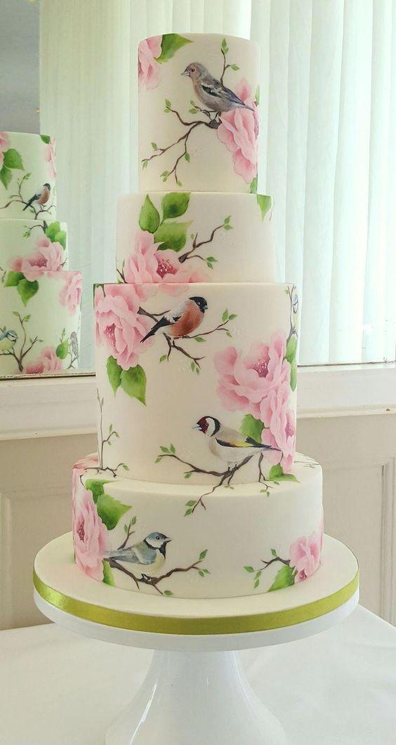 hand painted wedding cakes 2