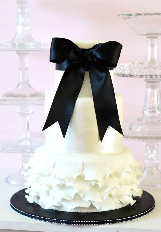 Ruffle and Bows Cake