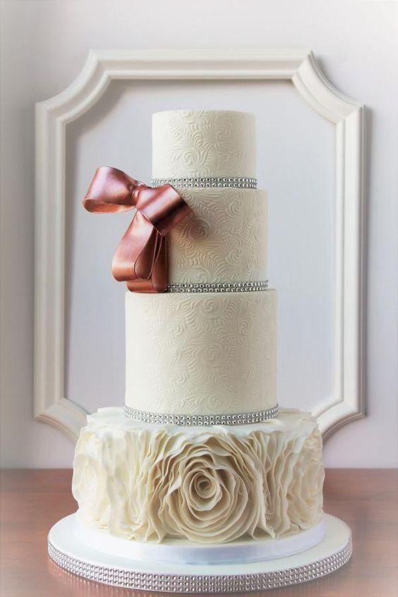 Ruffle and Bows Cake 1