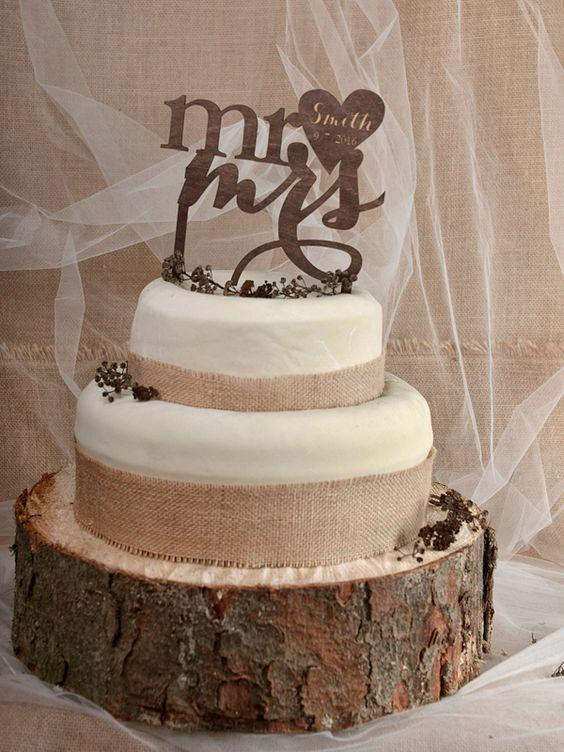 Rustic Cake Toppers 2