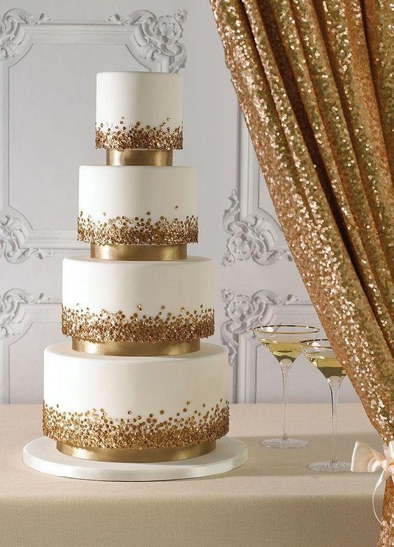 Glitter Wedding Cakes