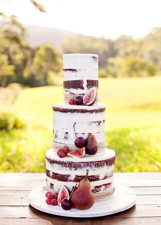 Fall Fruits Wedding Cake