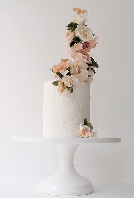 One Tiered Wedding Cakes